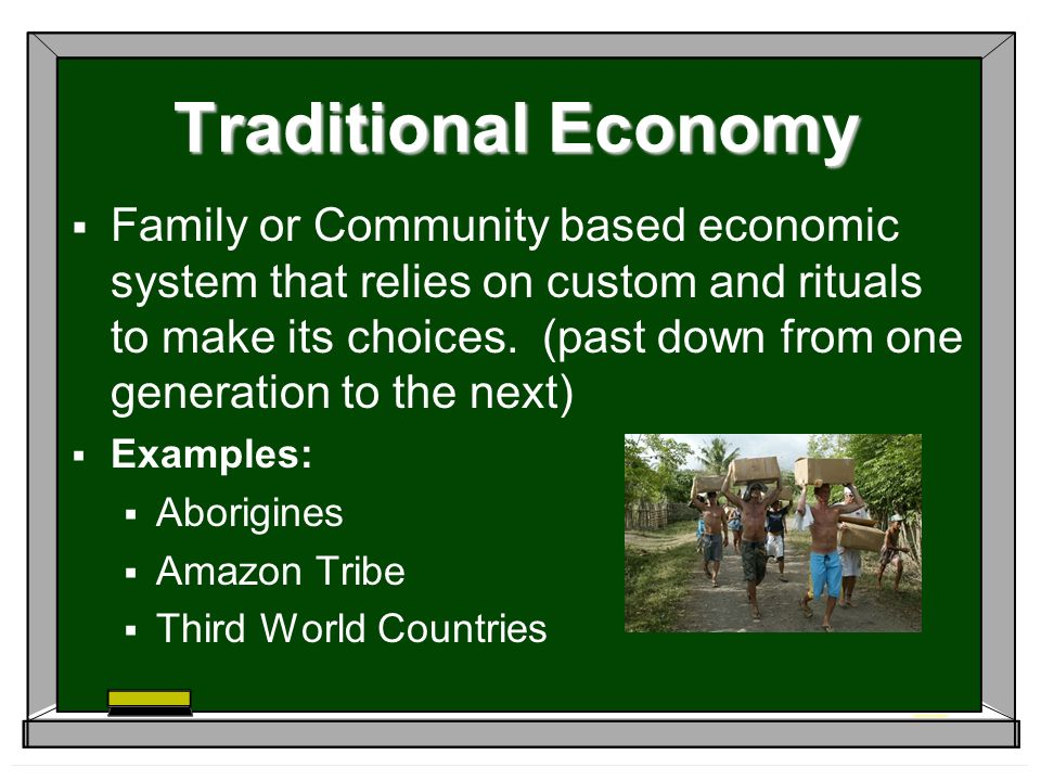 "economic system of different country There are four completely different types of economic systems traditional, command, market, and mixed economies ""most countries have a mix of three different types of economic systems ""(clayton 55) india is a worthy example of mixing the three main economic systems by combining elements of a traditional, command, and market economy."