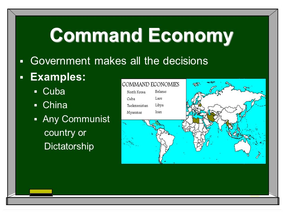 Economics I can explain the different types of economies ...