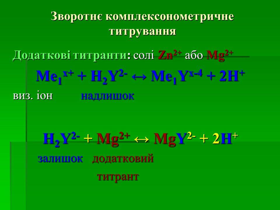 Зворотнє комплексонометричне титрування