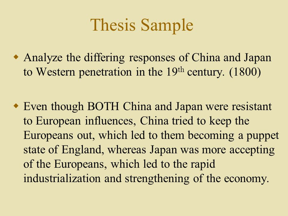differing responses of china and japan The japanese witness china's experience with the military power of western nations, and after the.