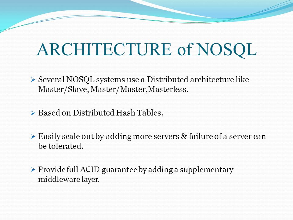 nosql database not only sql database