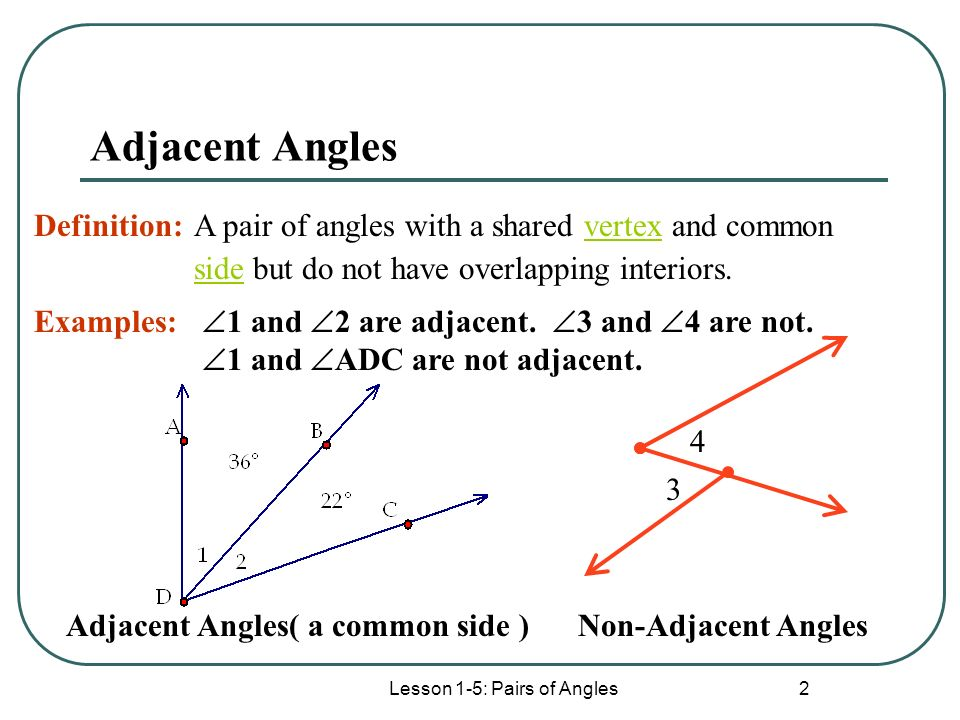 Lesson 1 5 Pairs Of Angles Ppt Download
