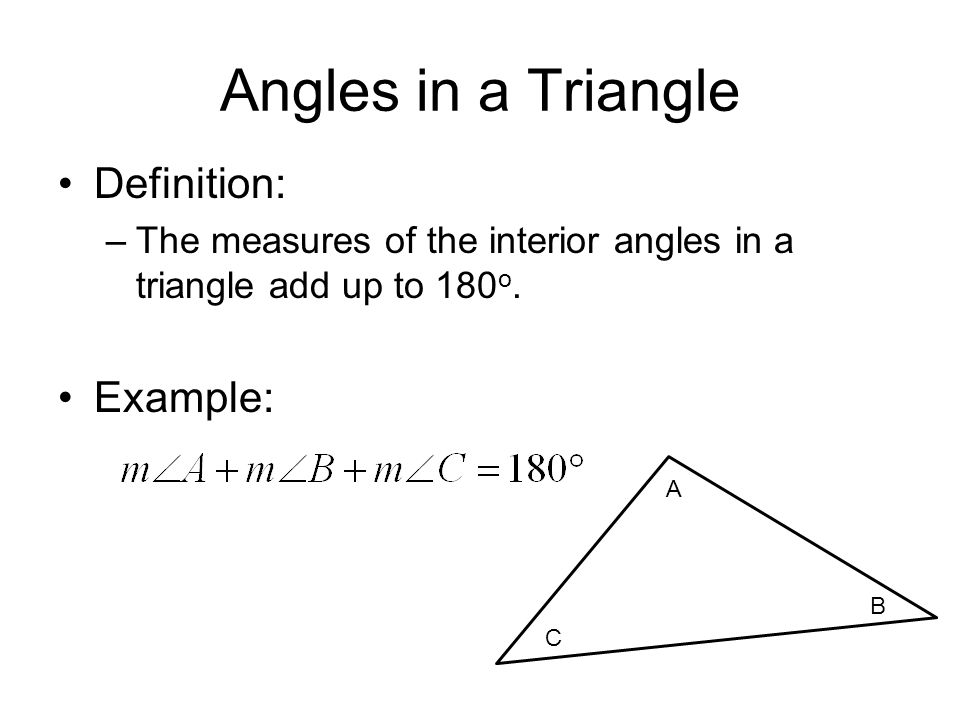 Define interior angles of a triangle
