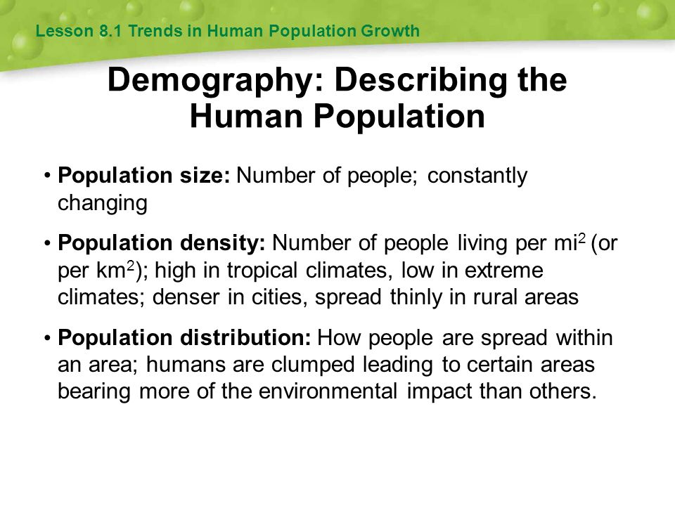 Demography: Describing the Human Population