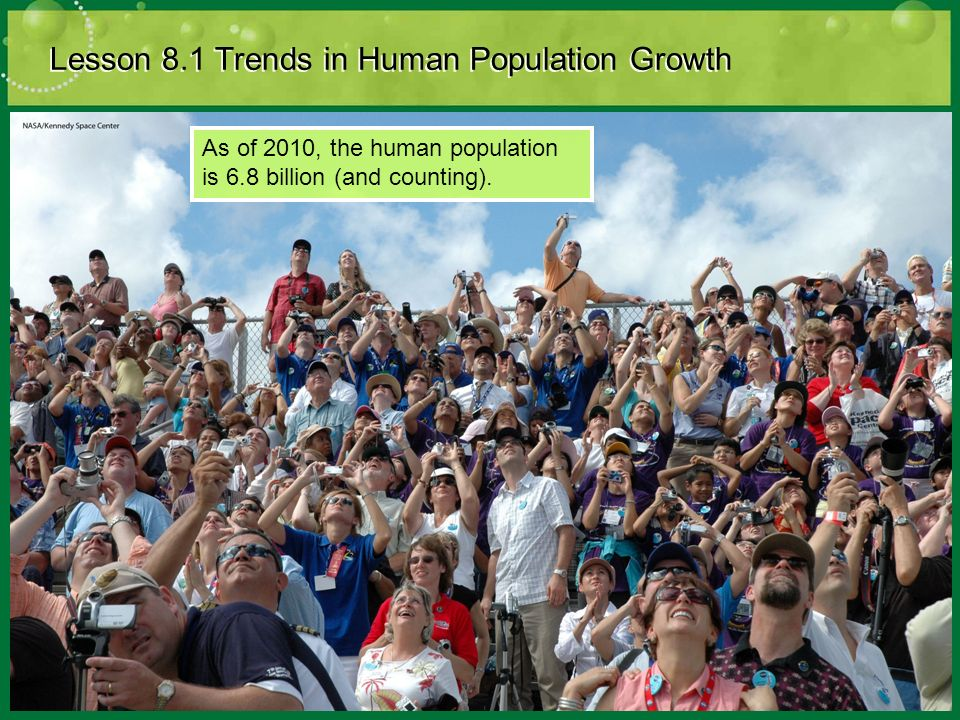 Lesson 8.1 Trends in Human Population Growth