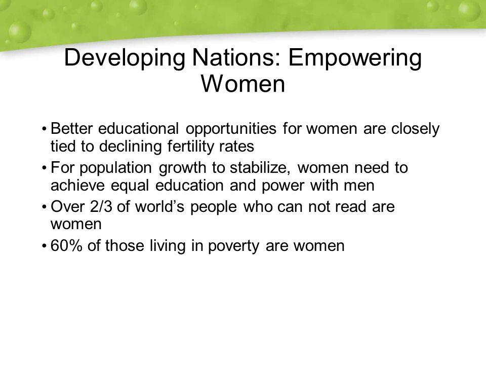 Developing Nations: Empowering Women