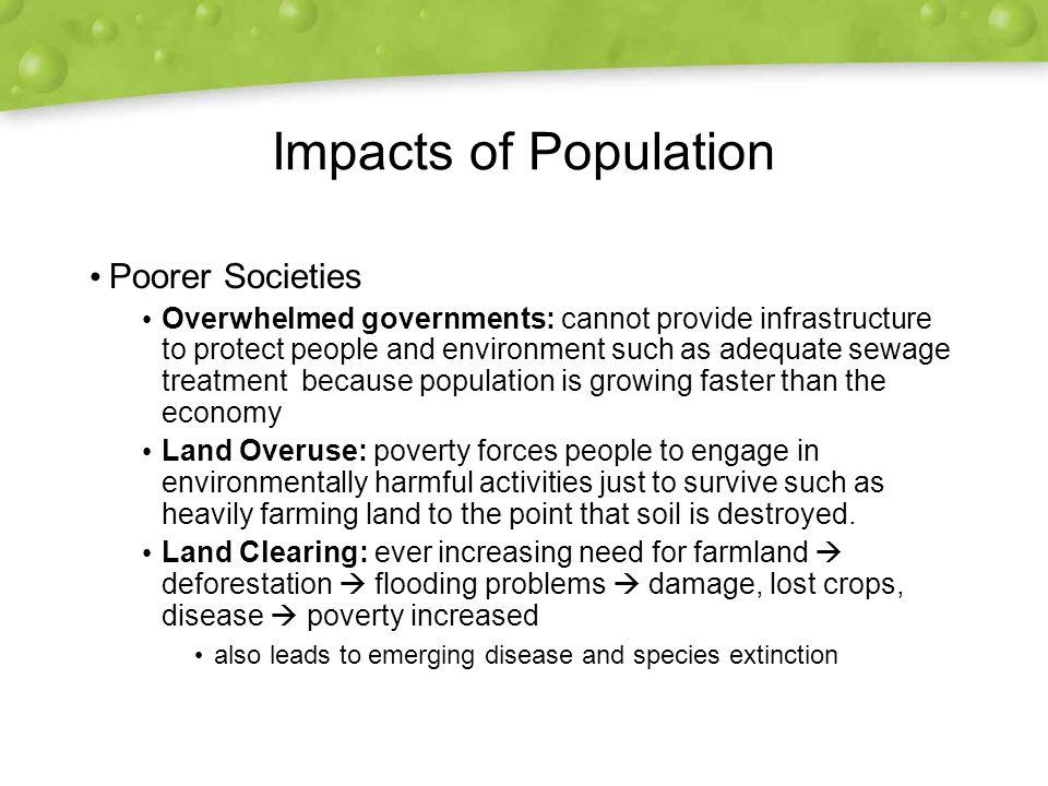 Impacts of Population Poorer Societies