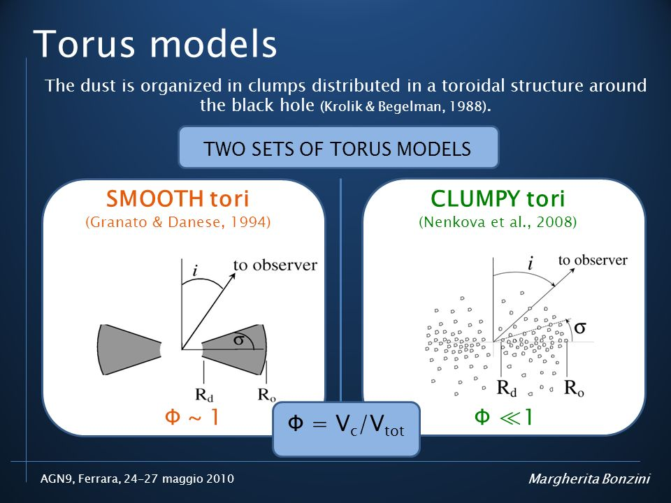 TWO SETS OF TORUS MODELS