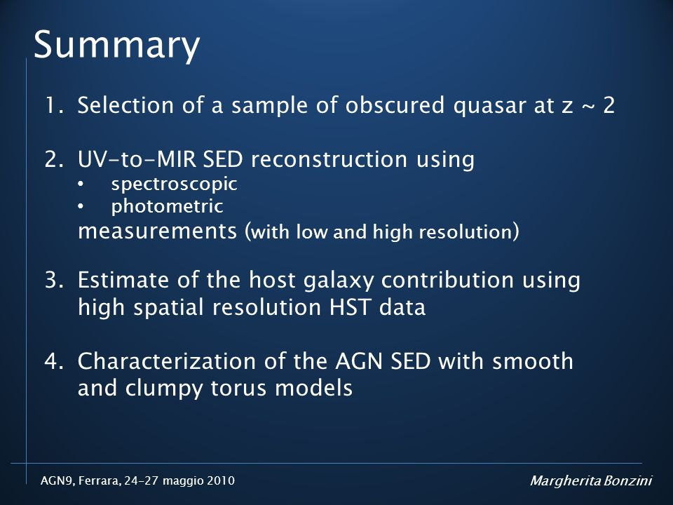 Summary Selection of a sample of obscured quasar at z ~ 2