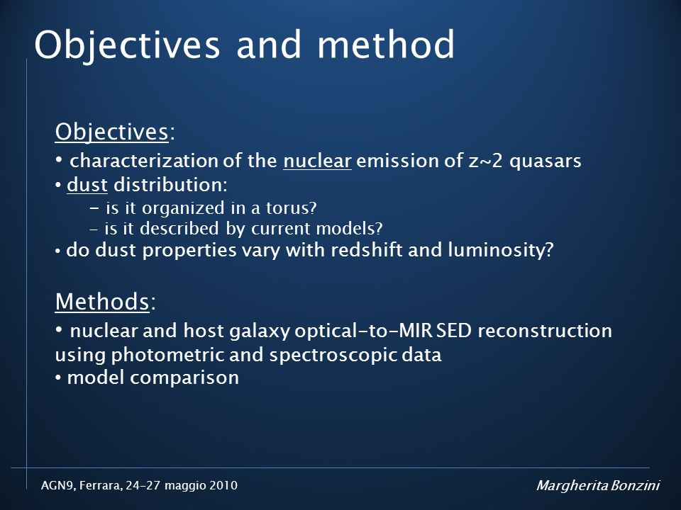 Objectives and method Objectives:
