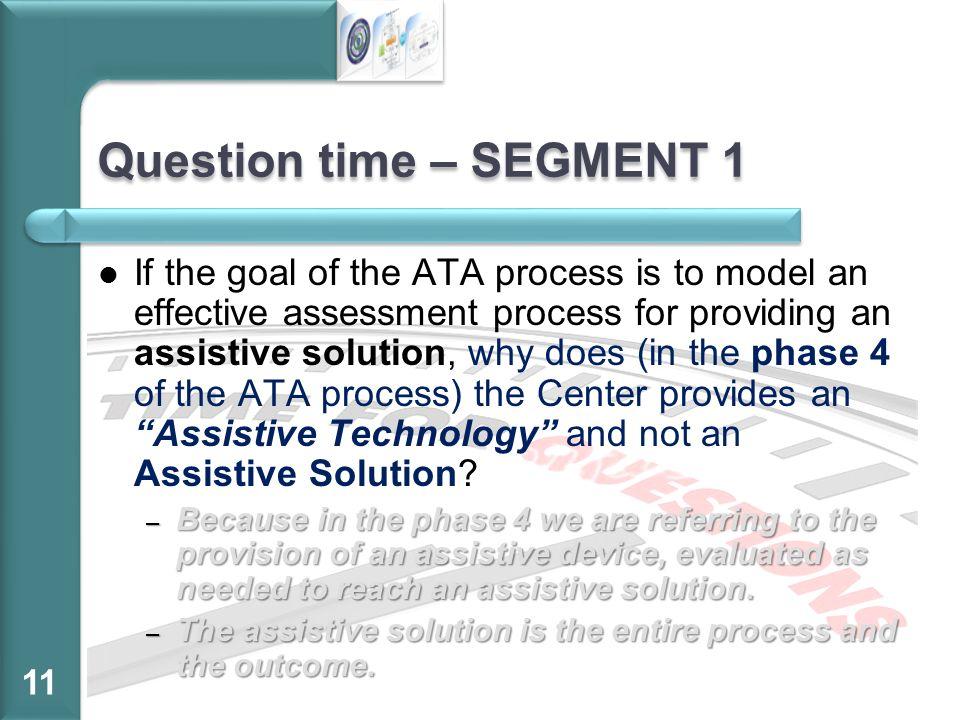 Question time – SEGMENT 1