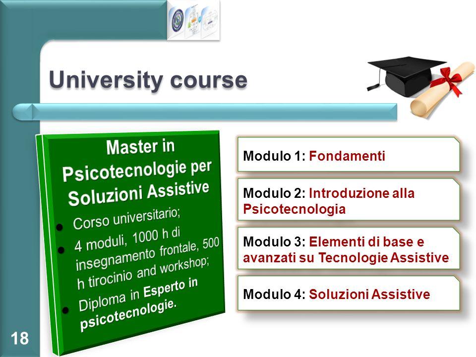 Master in Psicotecnologie per Soluzioni Assistive