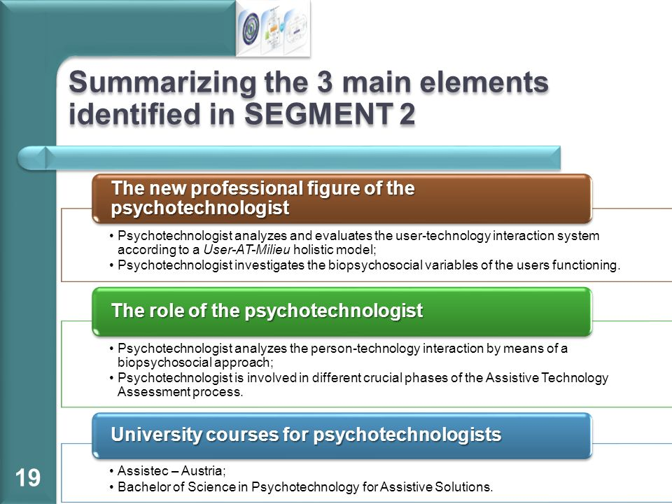 Summarizing the 3 main elements identified in SEGMENT 2