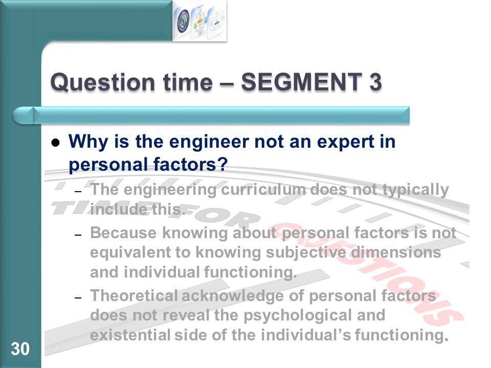 Question time – SEGMENT 3