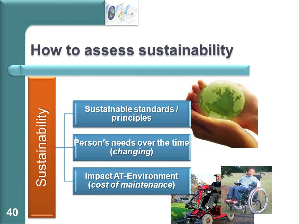 How to assess sustainability