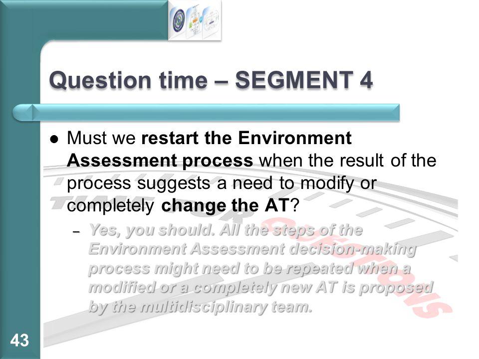 Question time – SEGMENT 4