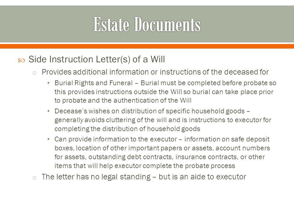 Finance 553 estate documents ppt download 14 estate documents spiritdancerdesigns Choice Image