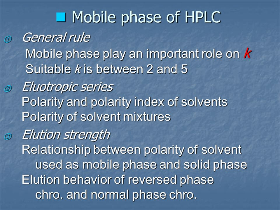 Chapter 4 High Performance Liquid Chromatography (hplc