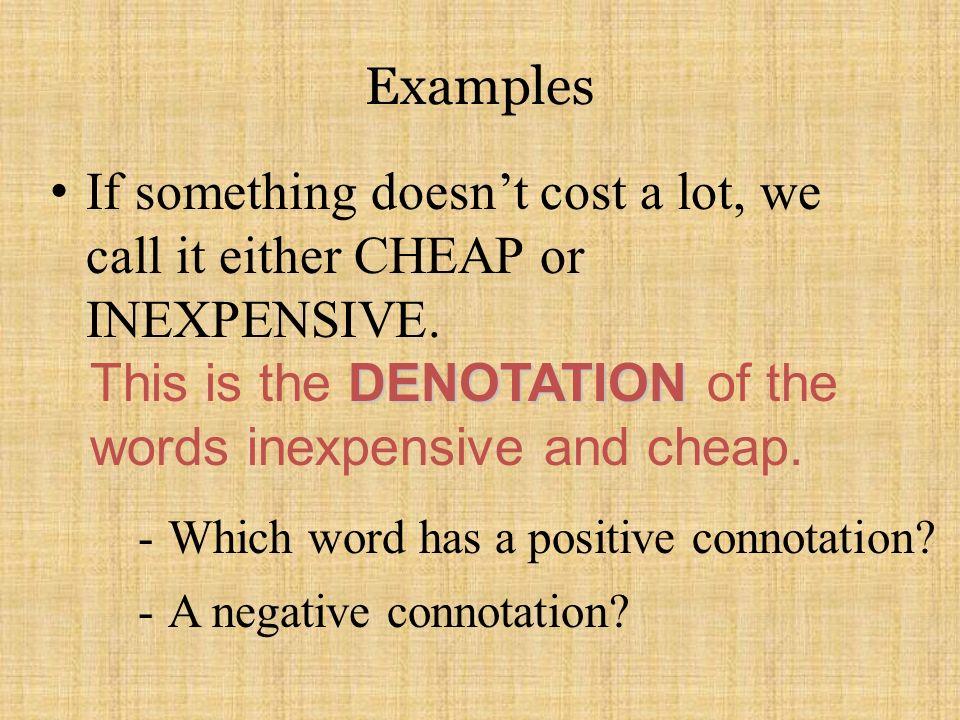 Denotation connotation exercises middle school