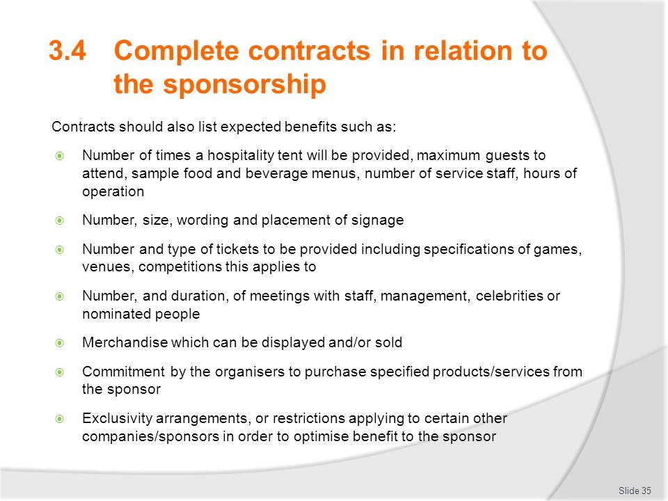 Develop implement and evaluate sponsorship plans ppt download – Sponsorship Contracts