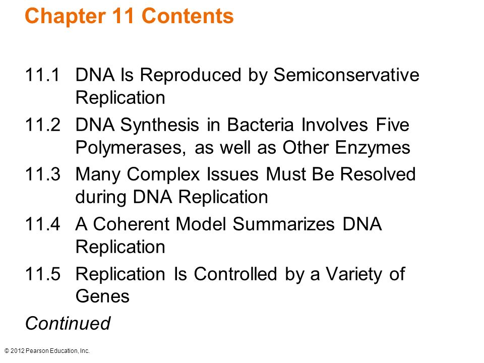 Dna replication and recombination ppt download chapter 11 contents 111 dna is reproduced by semiconservative replication pronofoot35fo Choice Image