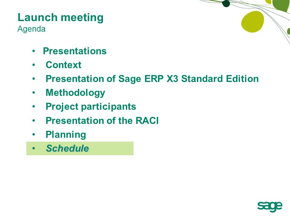 standard meeting agenda