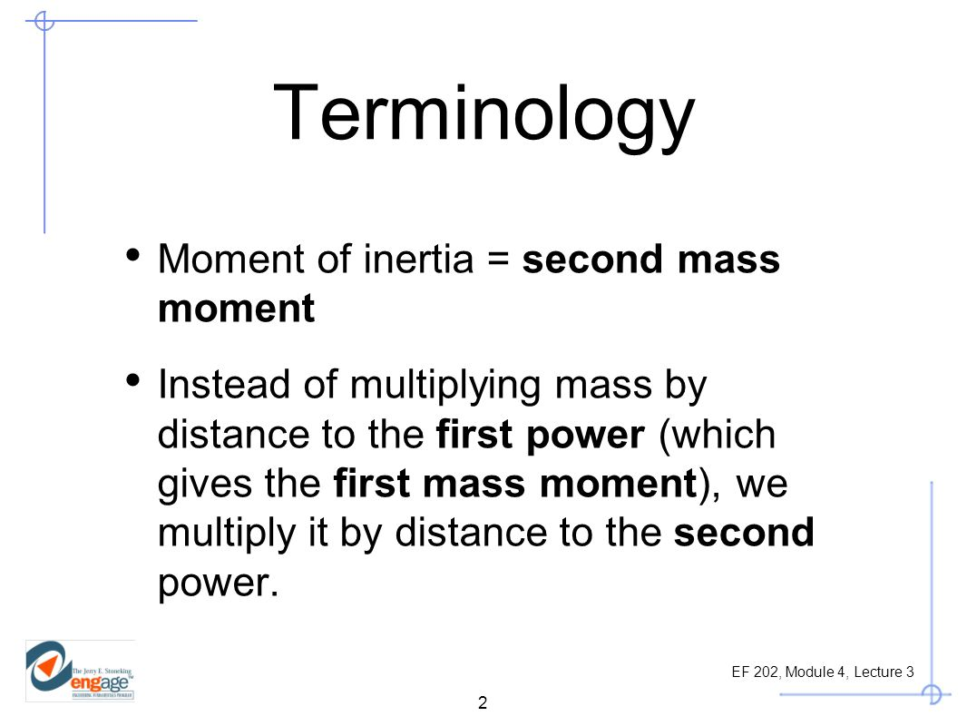 how to find second moment of inertia