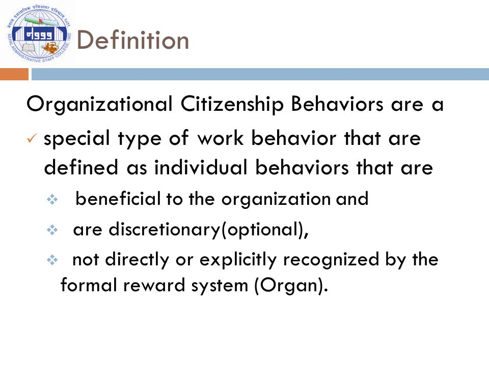 Ocb organizational citizenship behaviour