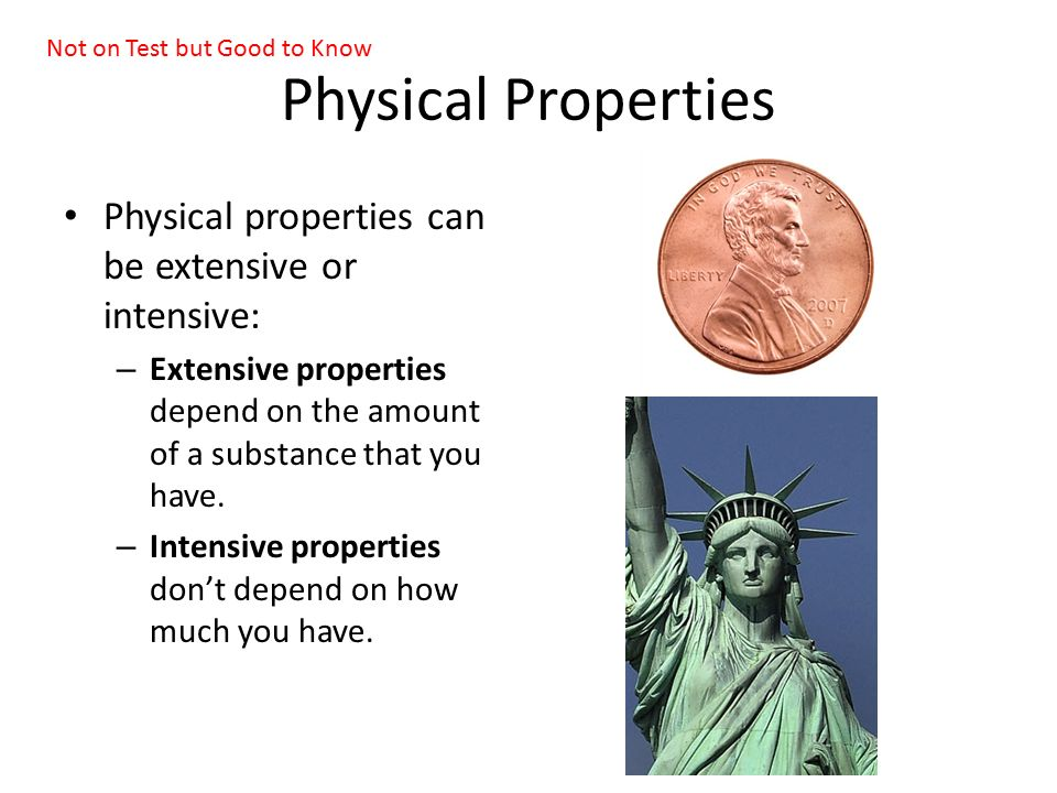 intensive properties Key difference: intensive properties refer to properties that are independent  compared to the size or quantity of the substance extensive properties refer to.