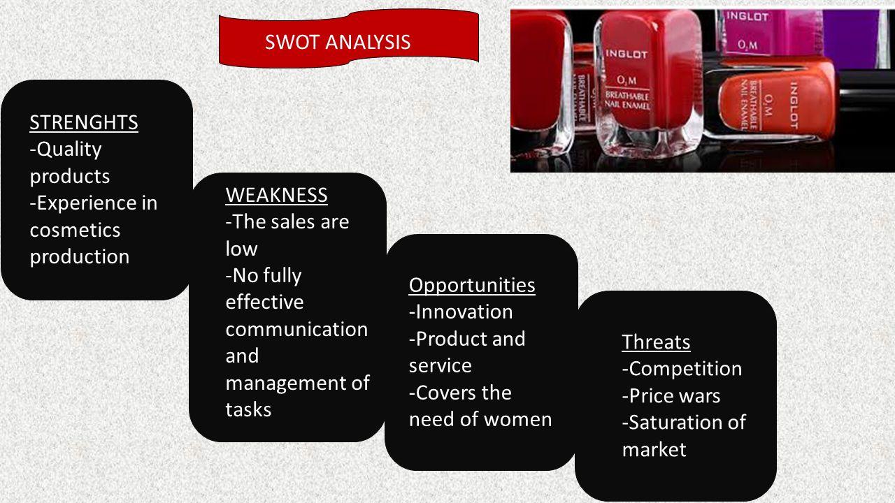 maybelline swot analysis Il posizionamento e la swat analisys l' analisi swot, conosciuta anche come matrice tows, è uno strumento di pianificazione strategica usata per valutare i punti di.