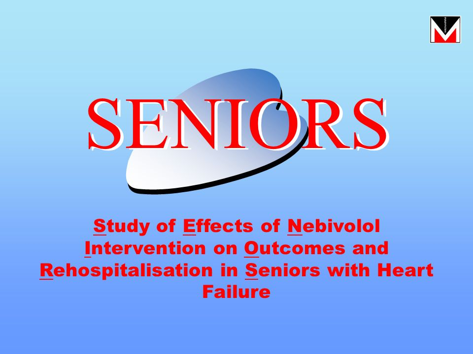 SENIORS Study of Effects of Nebivolol Intervention on Outcomes and Rehospitalisation in Seniors with Heart Failure.