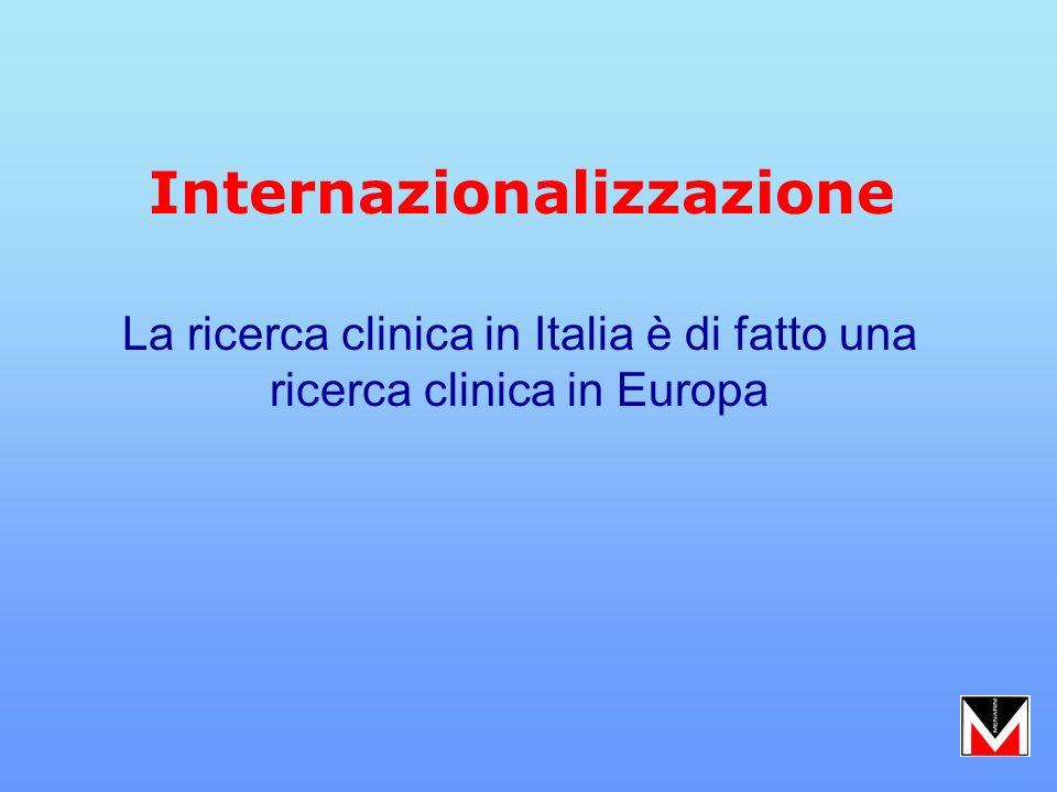 La ricerca clinica in Italia è di fatto una ricerca clinica in Europa