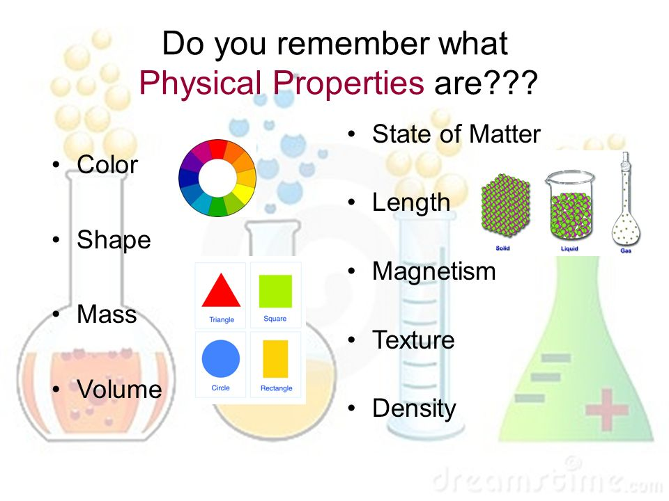 The Color Of A Substance Is A Physical Property