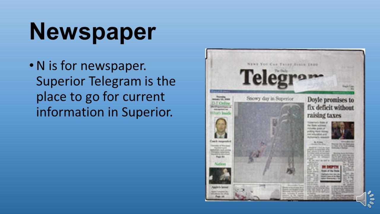 News paper writer superior wi