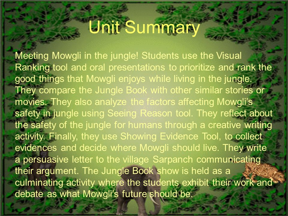 Jungle book story summary