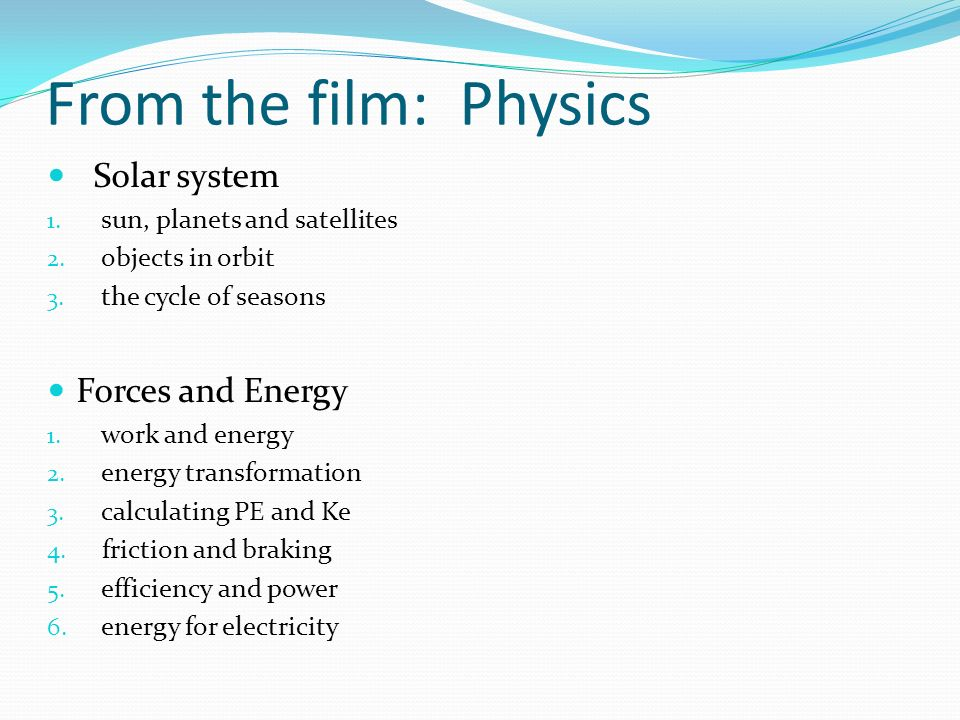 From the film: Physics Solar system Forces and Energy