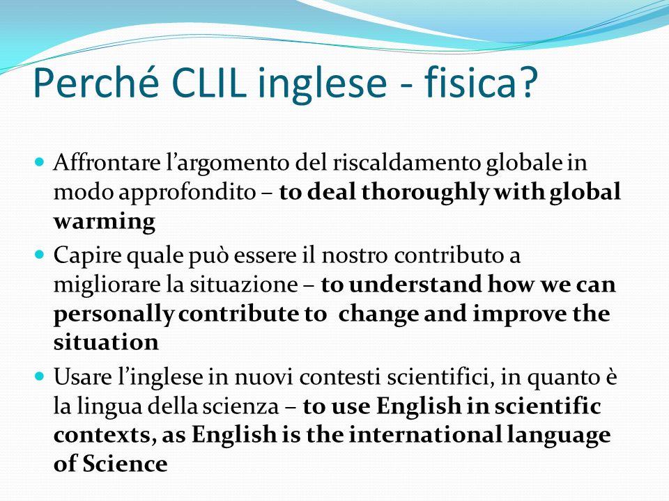 Perché CLIL inglese - fisica