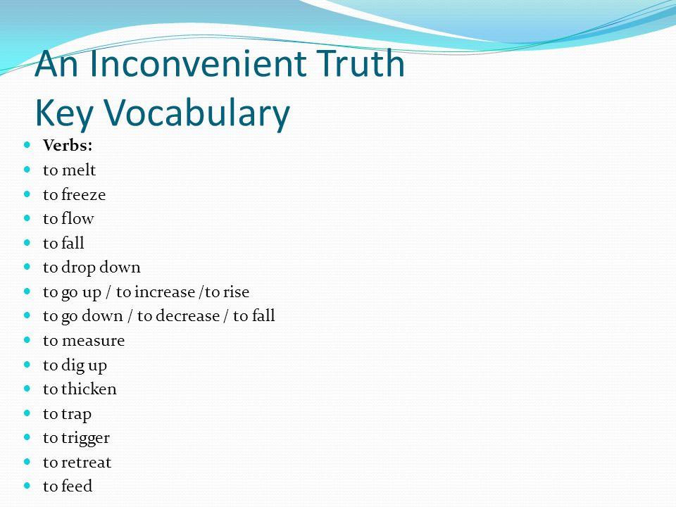 An Inconvenient Truth Key Vocabulary