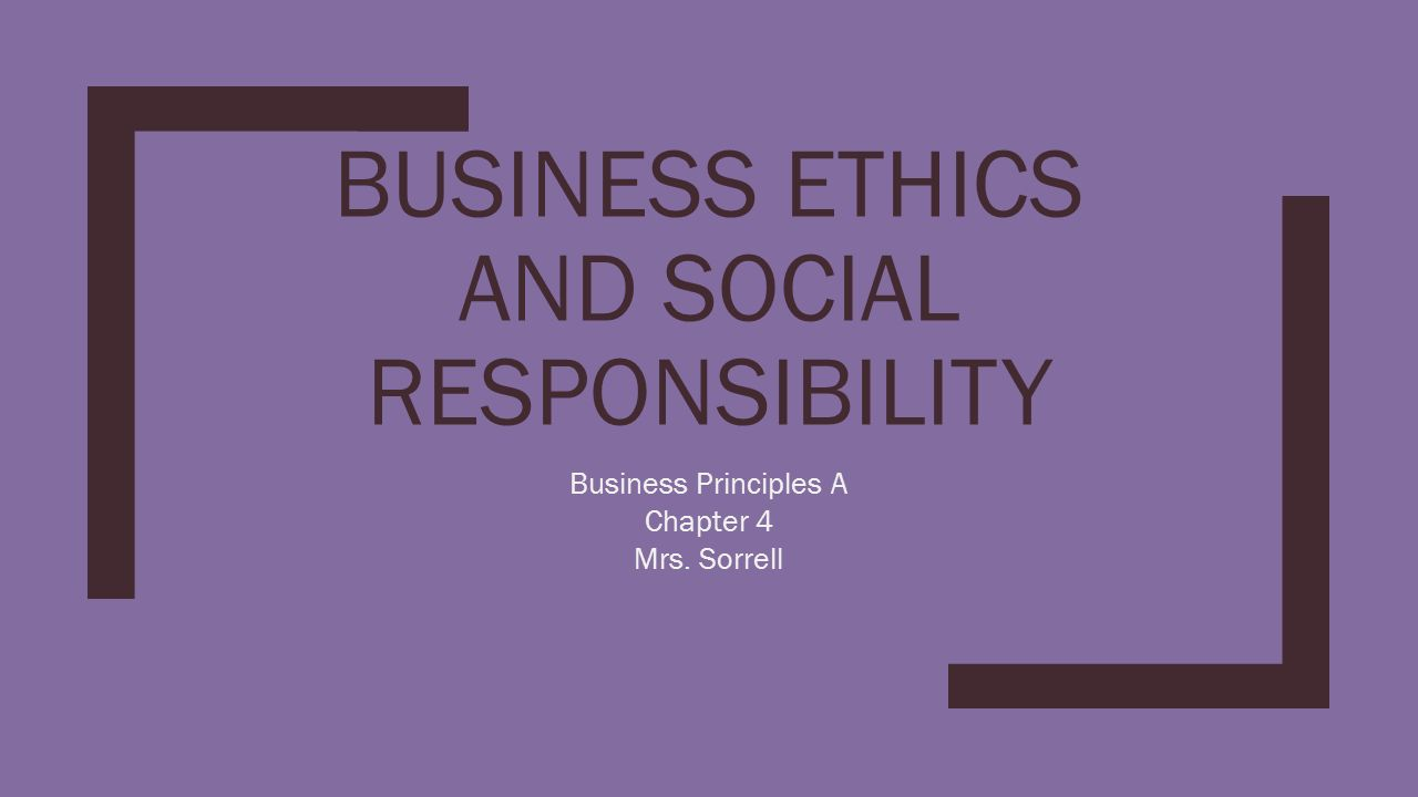 business ethics the social responsibility to The business ethics and corporate social responsibility course from the american university of paris provides conceptual tools for the personal and.