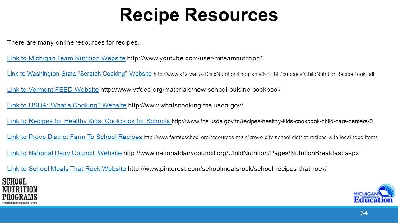 Menu planning ppt video online download 34 recipe resources forumfinder Choice Image