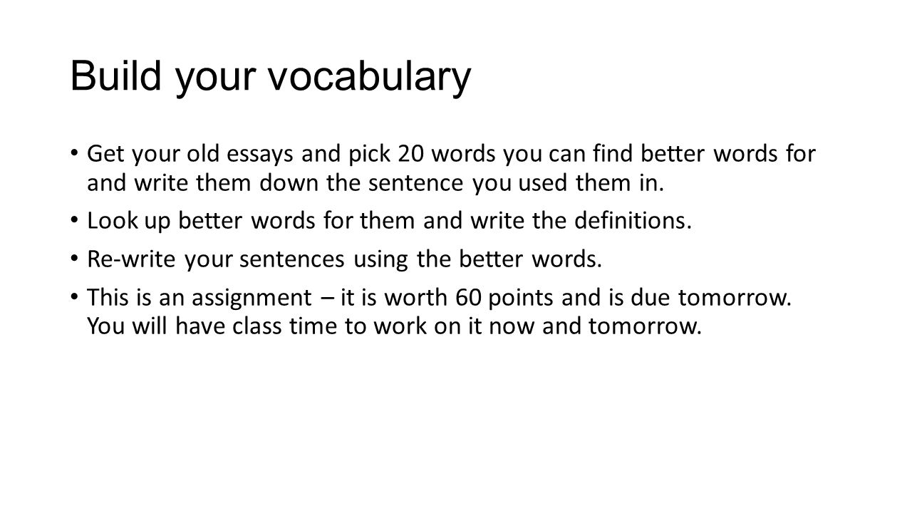 how can i write essays better