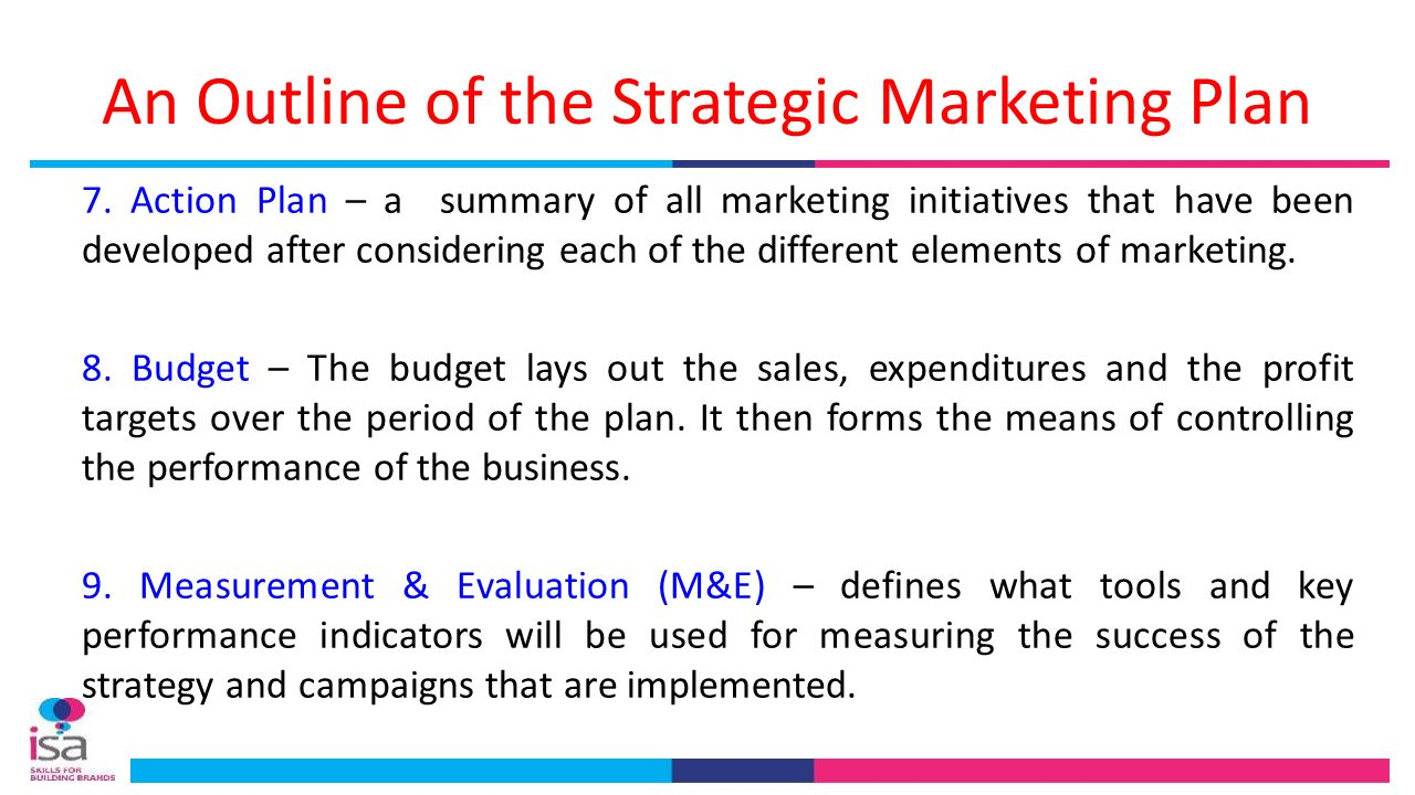strategic marketing outline