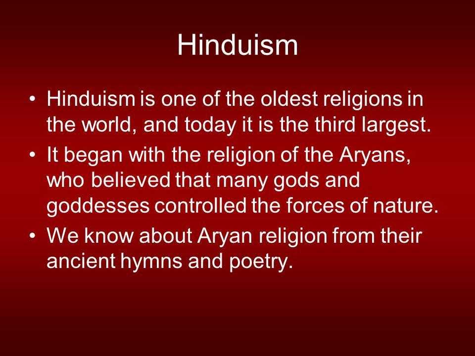 Hinduism Ppt Video Online Download - Religion in the world today
