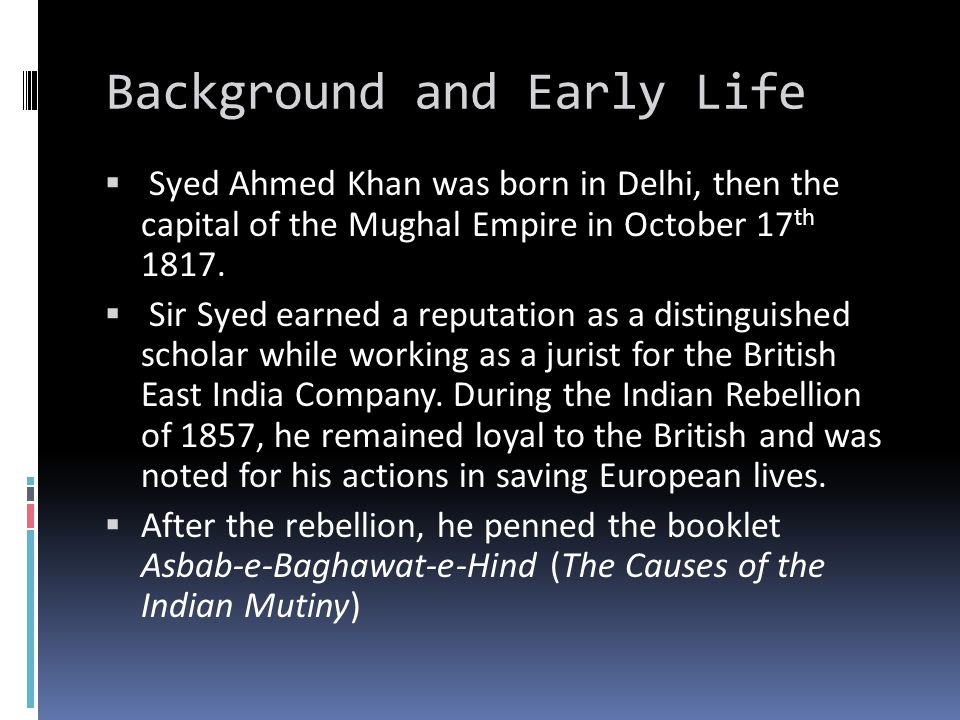 Background and Early Life