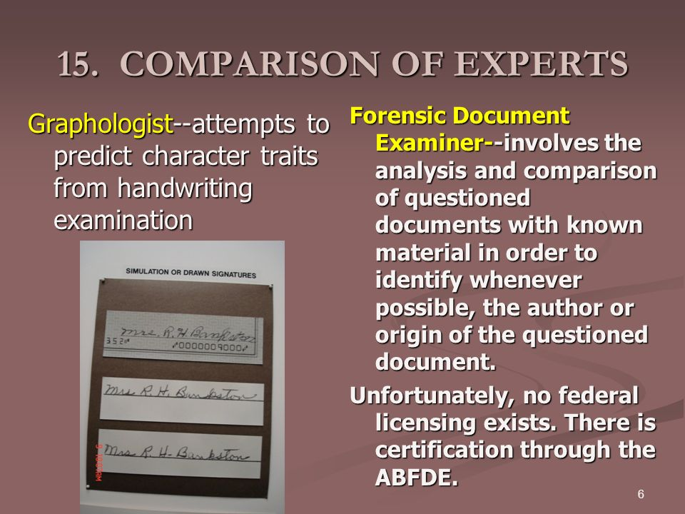 Forensic science questioned documents ppt download for Questioned documents forensic science