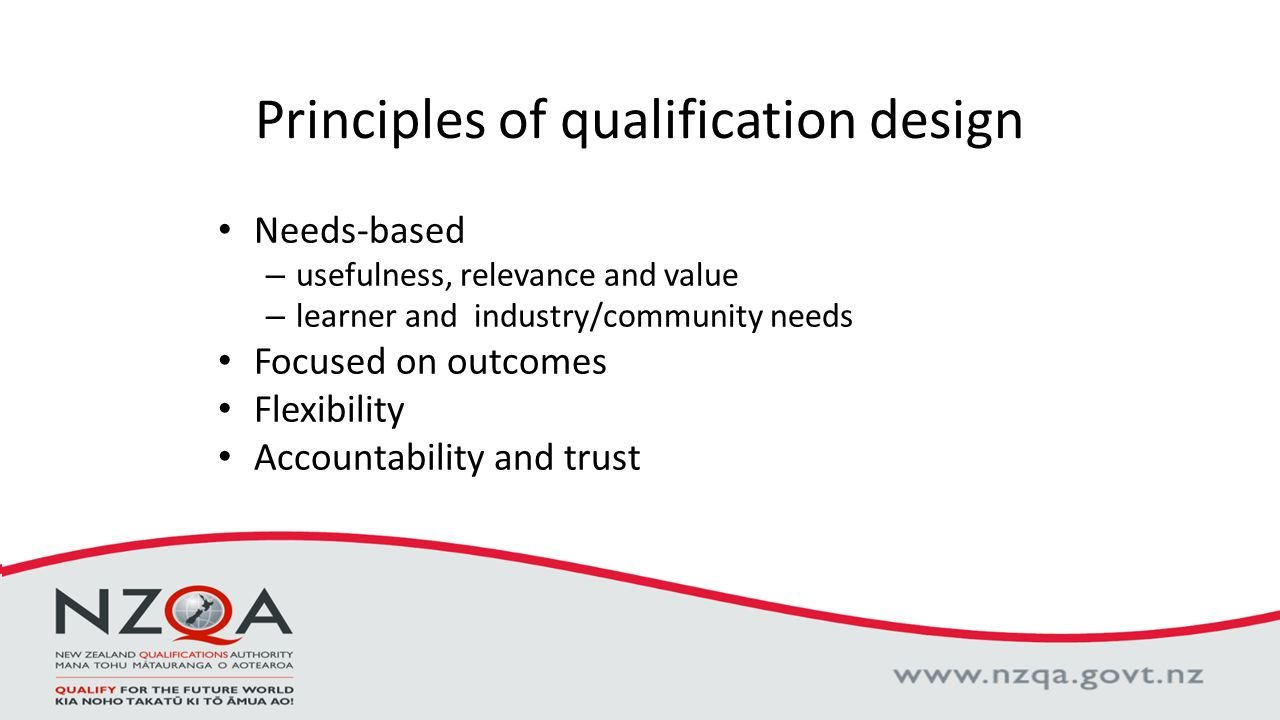 Principles Of Design Value : The quality assurance of tertiary education in new zealand