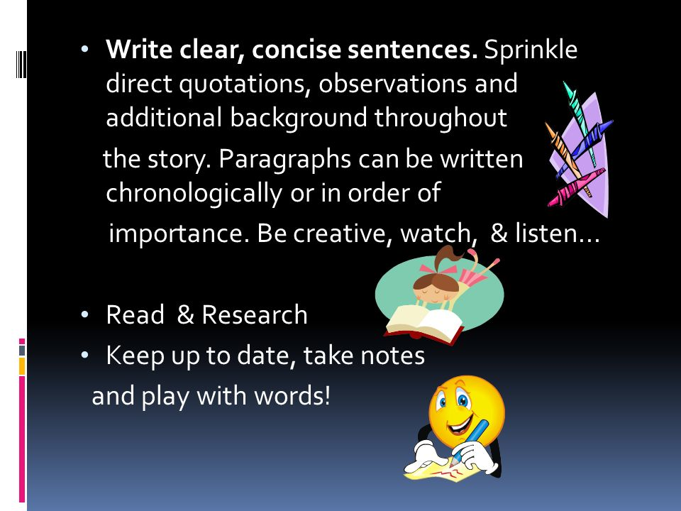 how to write sentences more clear