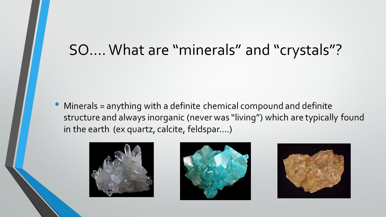 What are minerals and crystals
