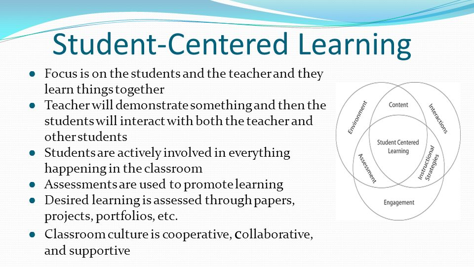 student centered instructional strategies