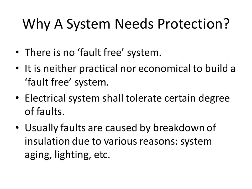 purpose of power system protection Switchgear and protective devices 2015 6 | p a g e 11 fundamentals of power system protection the purpose of an electric power system is to generate and supply electrical energy to.